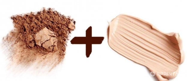 Powder and foundation