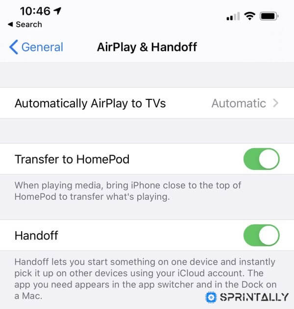 AirPlay and Handoff
