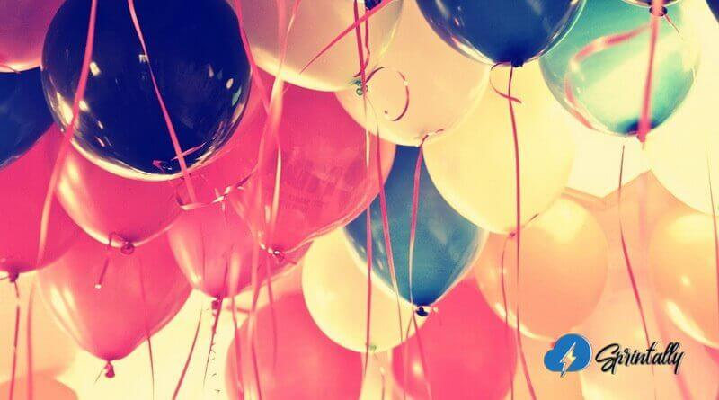 A room full of balloons