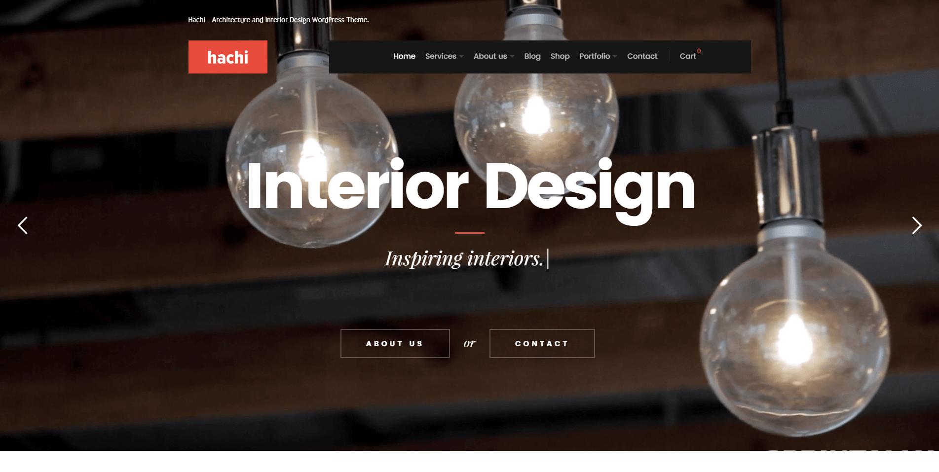 Hachi - Architecture And Interior Design Wordpress Theme