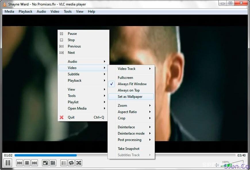Use Video as Desktop Wallpaper by VLC