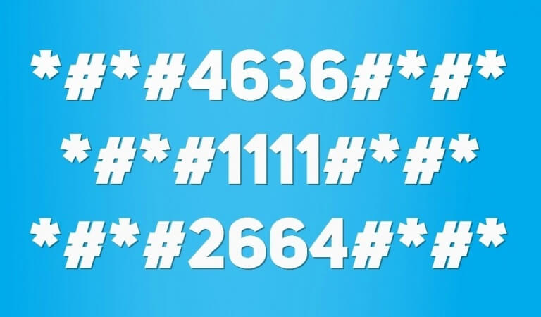 Service (secret) codes for Android smartphones