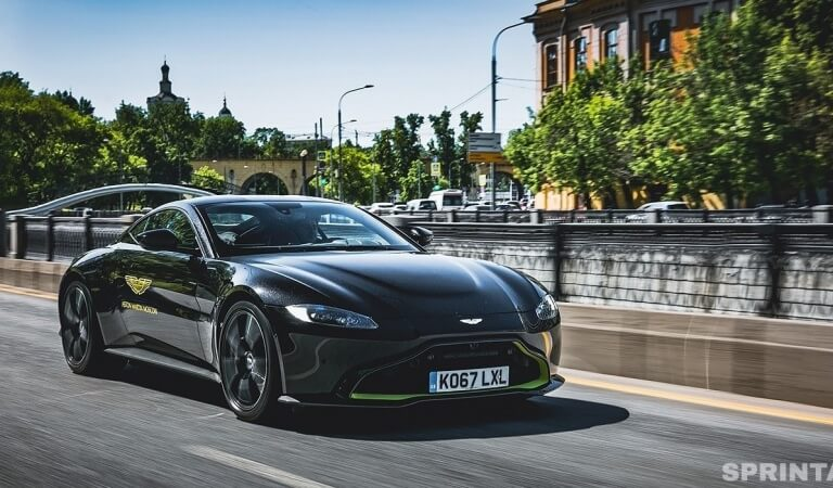 Rage in the metal. Test drive Aston Martin Vantage