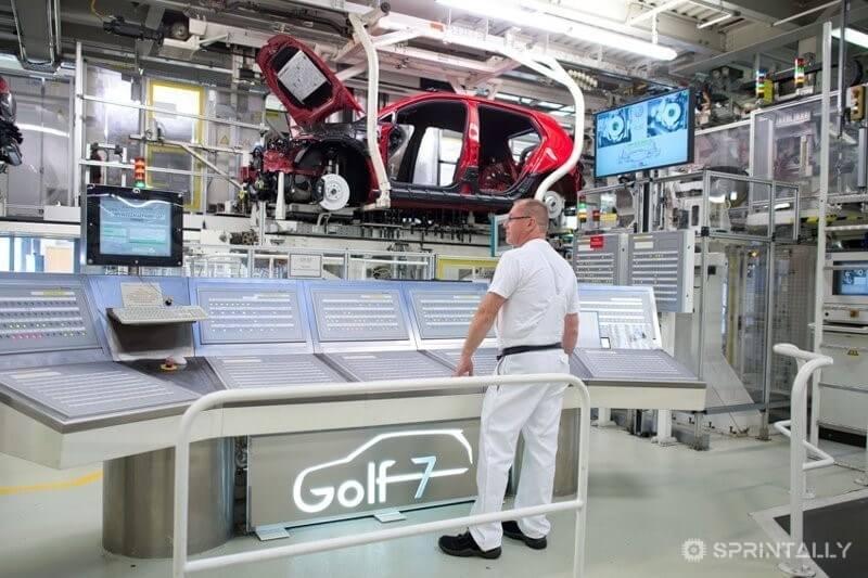 Volkswagen Plant In Wolfsburg