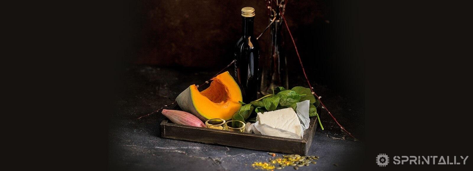 Warm Salad With Pumpkin
