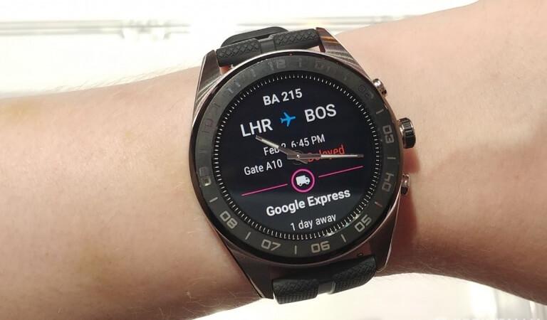 Smart watch LG Watch W7 – hybrid with mechanical arrows