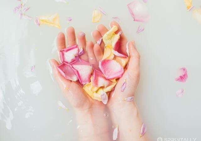 Anti-cellulite bath at home