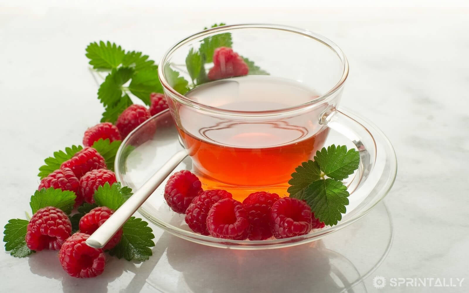 Tea With Raspberry From Colds And Flu