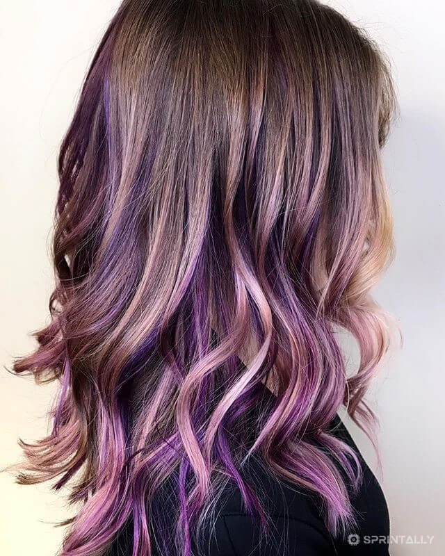 Coloration On Light Hair