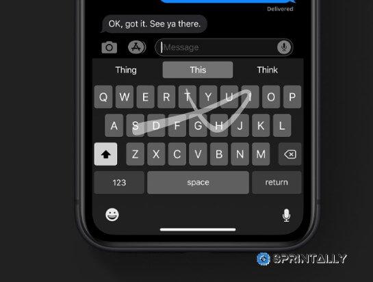 Swipe Across The Keyboard