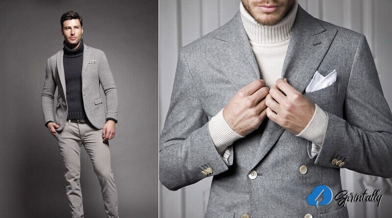Turtleneck and blazer