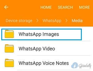 WhatsApp Images folder