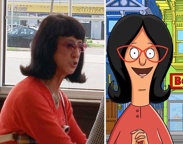A Woman Like Linda Belcher From Bob'S Burgers