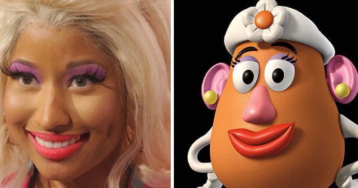 Nicki Minaj An Exact Copy Of Mrs. Potato Head