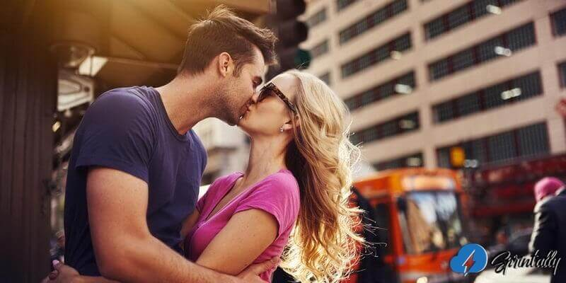 Quick Kiss Without Tongue