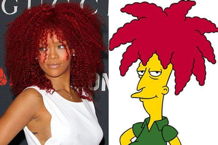 Rihanna Copy Of Sideshow Bob From The Simpsons