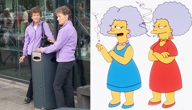 Selma And Patty Bouvier From The Simpsons