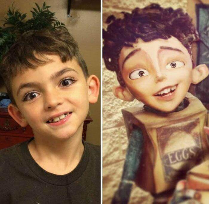 The Boy Is Very Reminiscent Of The Eggs From The Cartoon Boxtrolls