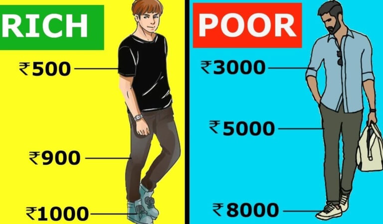 10 differences between the habits of rich and poor people