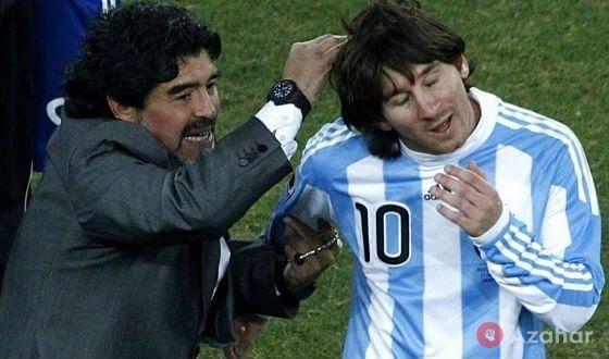 Lionel Messi And Diego Maradona