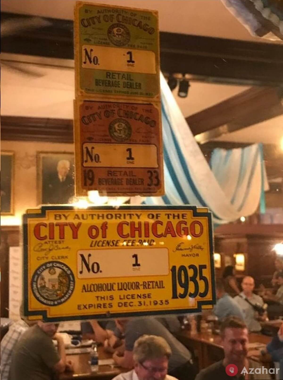 A Bar In Chicago That Was The Very First To Receive A License To Sell Alcohol After The Repeal Of Prohibition