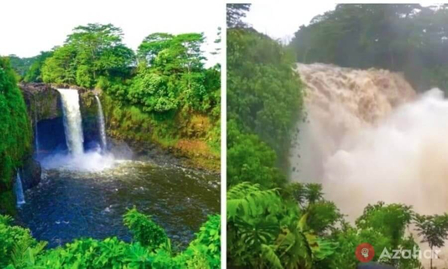 How Does A Waterfall Change During A Hurricane