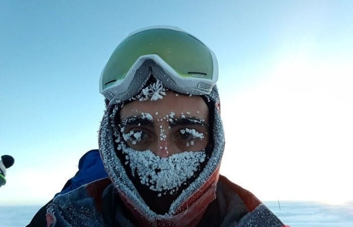 Astrobiologist told and showed how he lives in Antarctica at a temperature of -80ºC