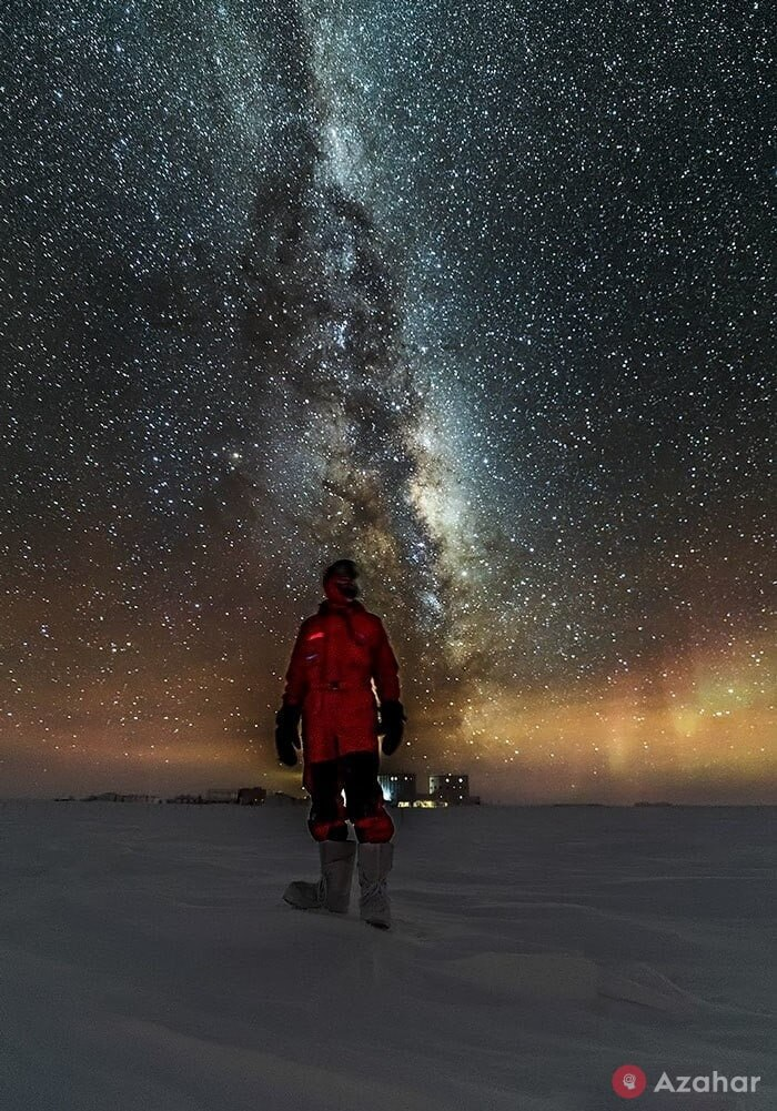 antarctica sky at night