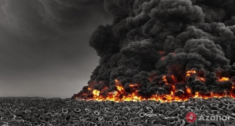 Tire Dump In Sulaibiya