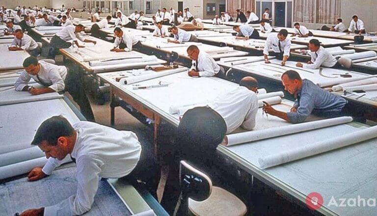 19 vintage photos of how people worked before AutoCAD appeared