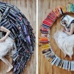 Girl Turned Her Huge Library Into A Fantastic Art Project
