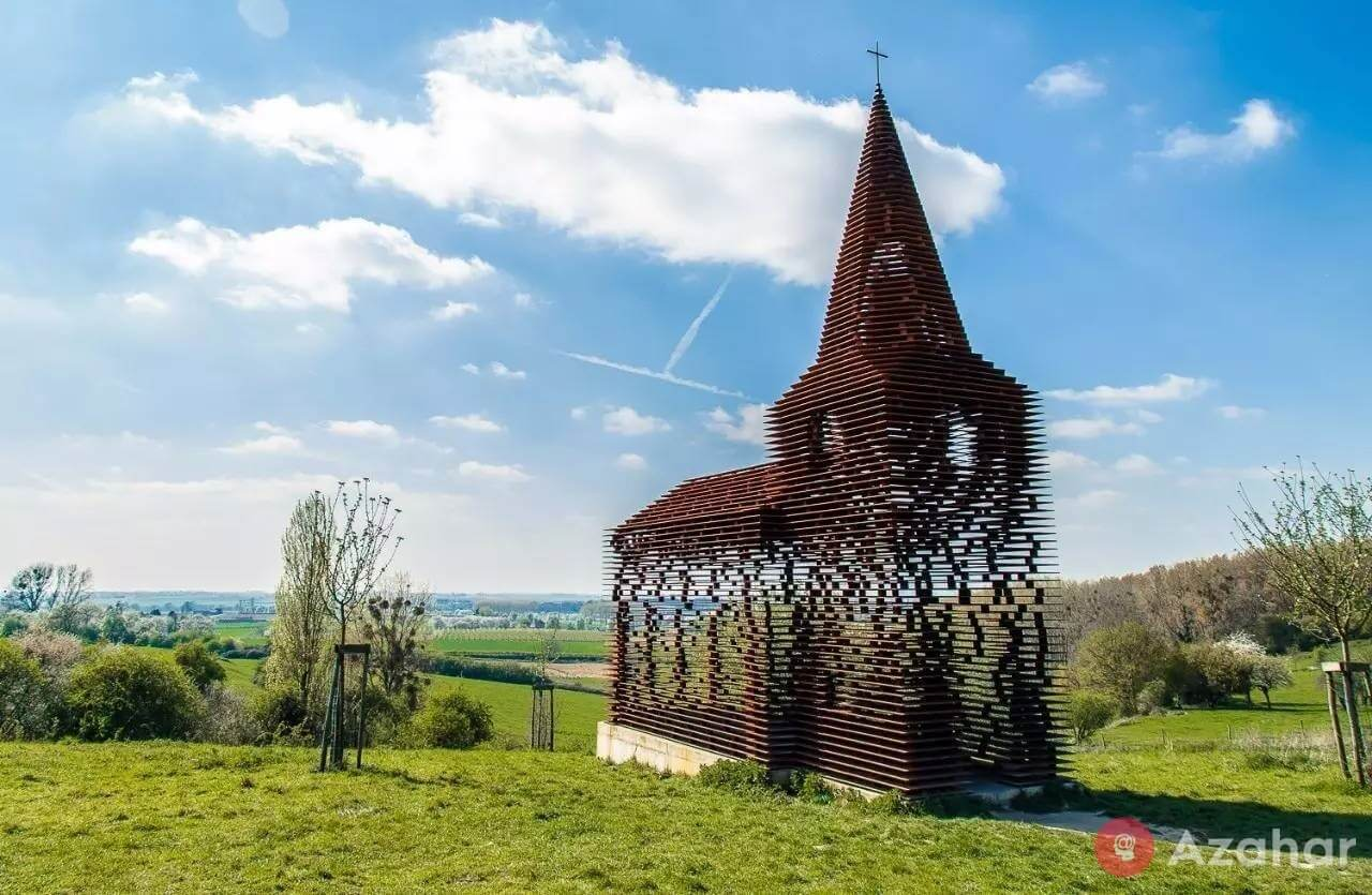 "Reading between the lines (""Reading between the lines""), transparent Church, Belgium"