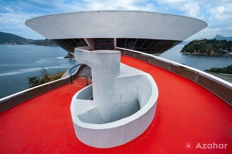 Museum Of Contemporary Art In Niteroi, Brazil