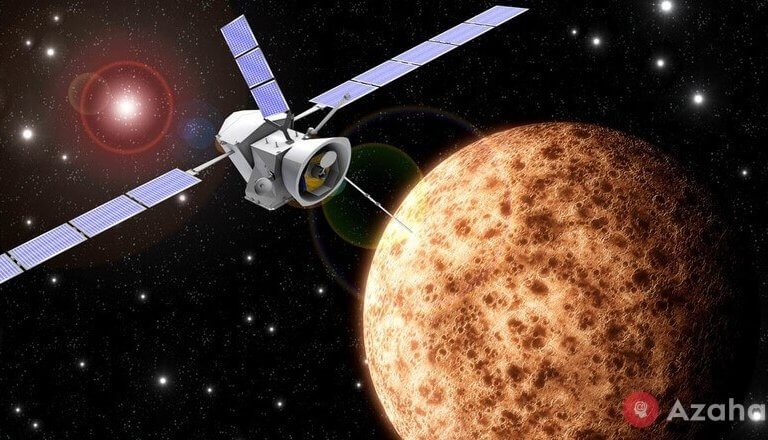 Why vehicles are flying to mercury a few years, and to Mars for a few months