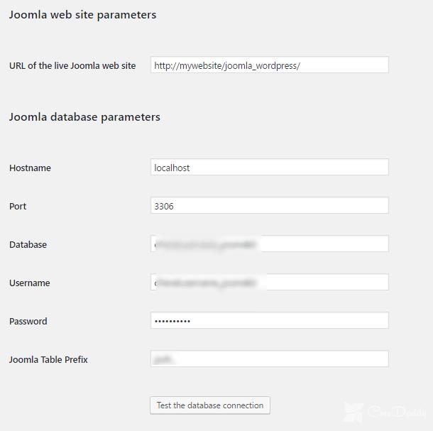 Joomla Website Parameters