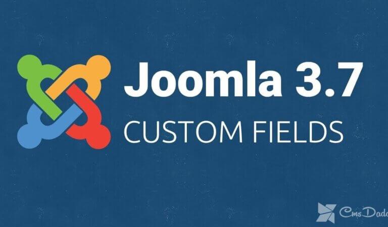 Additional fields in Joomla 3.7+