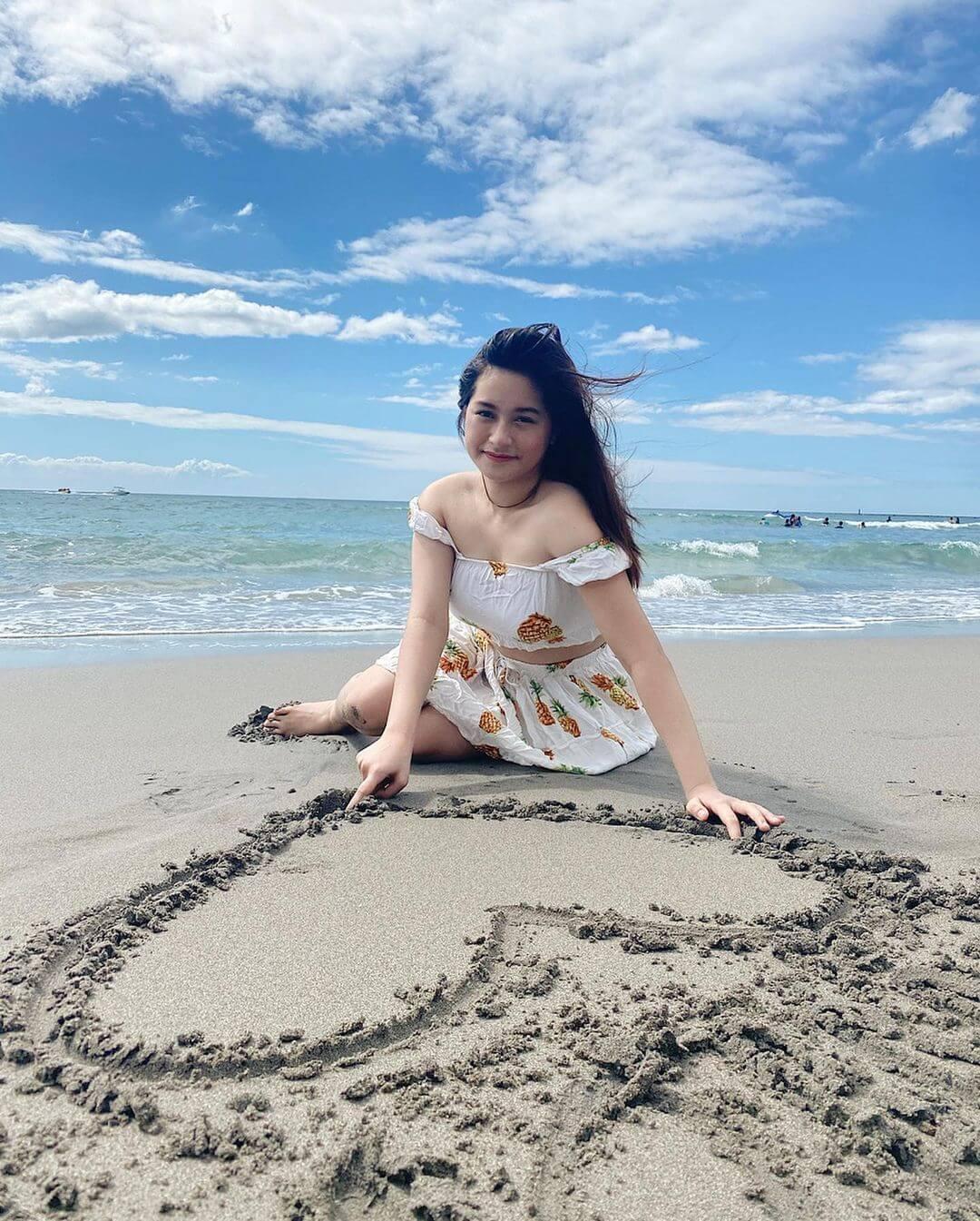 Jillian Ward Made Heart On Beach