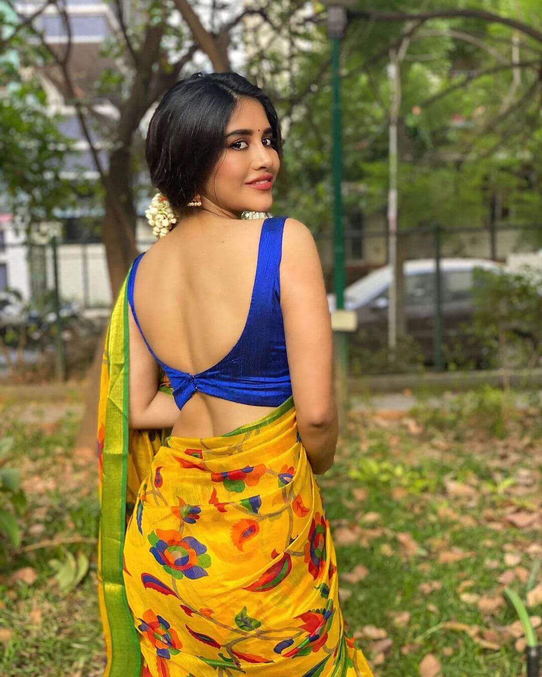 Nabha Natesh Showing Her Back