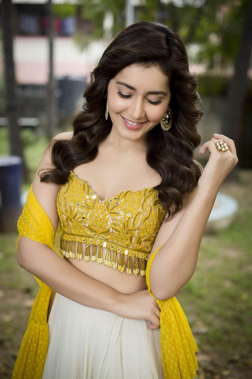 Raashi Khanna On Yellow Top