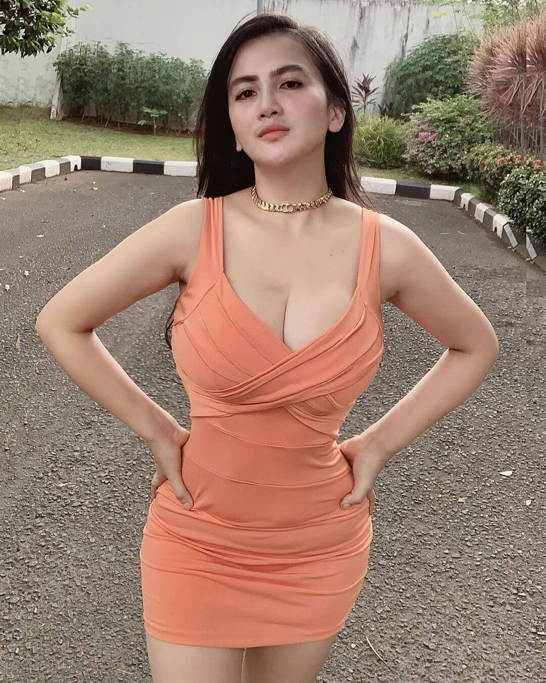 Dianna Dee Starlight In Orange Color Dress