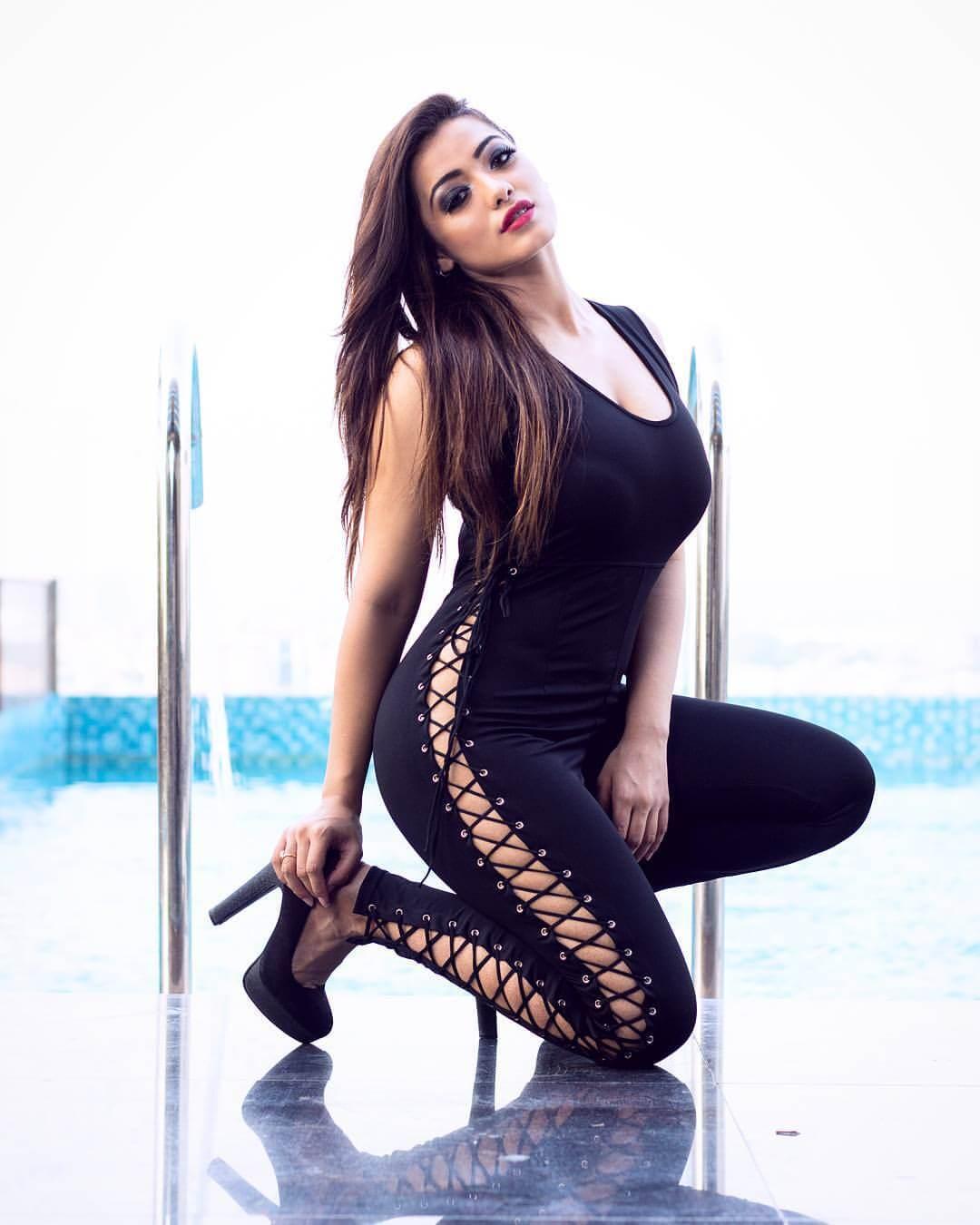 Ketika Sharma Photoshoot On Black Dress