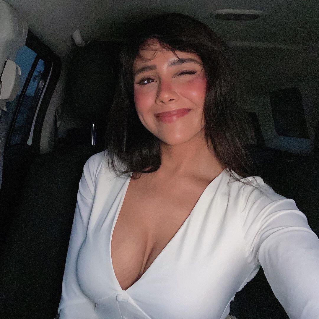 Nicole Sanchez In White Top