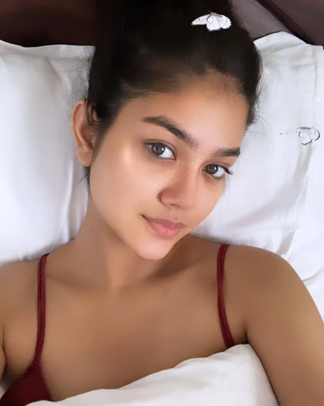 Priyal Mahajan On Her Bed
