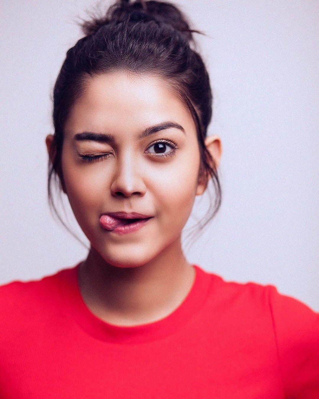 Priyal Mahajan On Red T Shirt