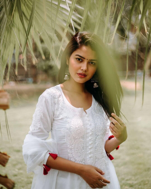 Priyal Mahajan On White Dress
