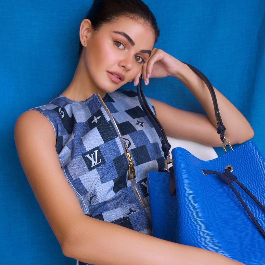 Janine Gutierrez In Blue Dress