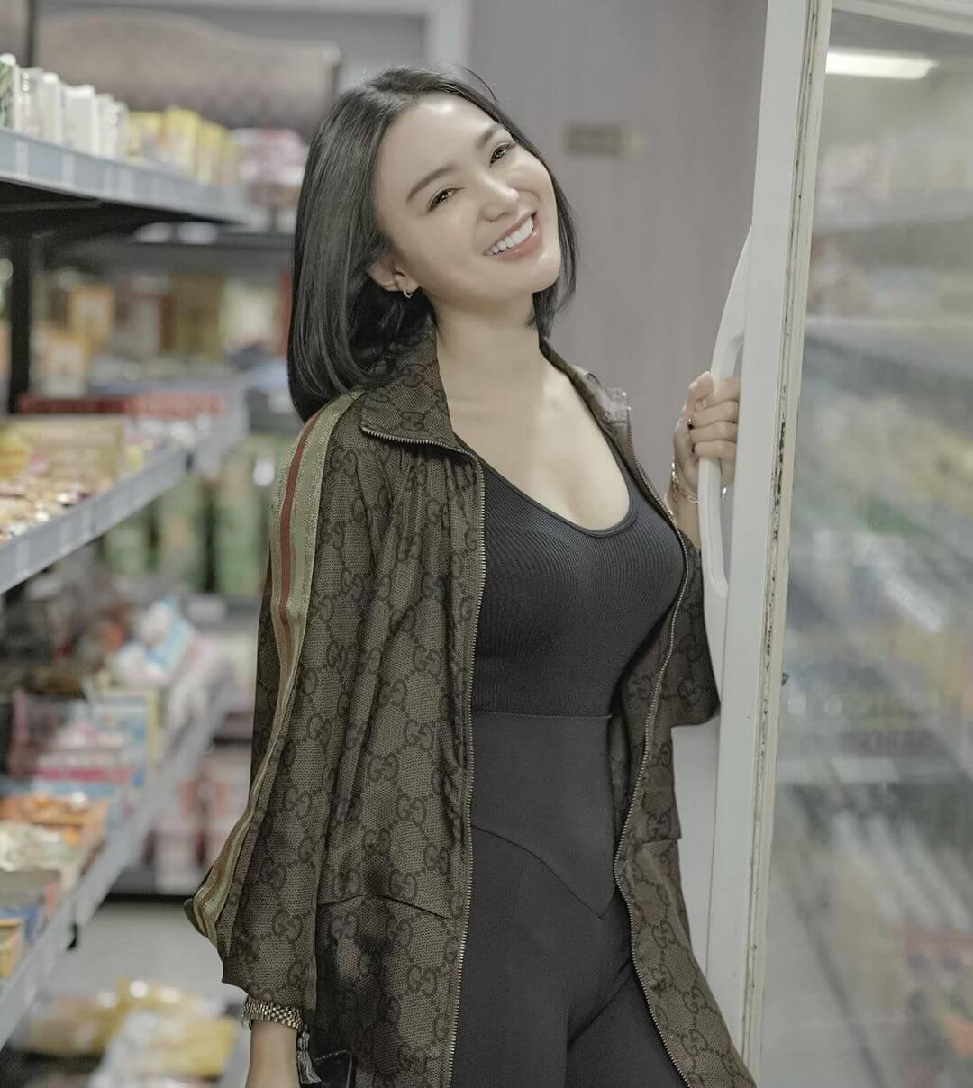 Indonesian Actress Wika Salim In Black Dress
