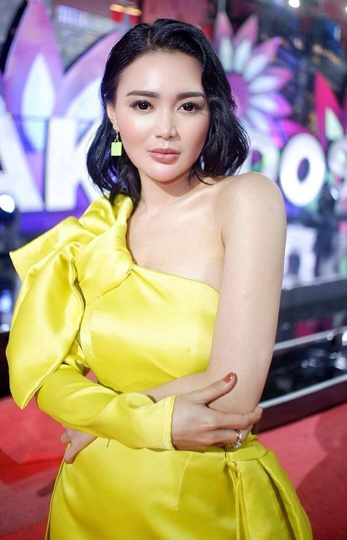 Indonesian Actress Wika Salim In Yellow Dress
